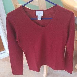 Loft sparkly red sweater